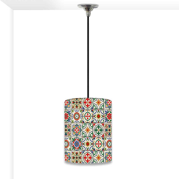 Ceiling Hanging Pendant Lamp Shade - Talavera Mexican Style