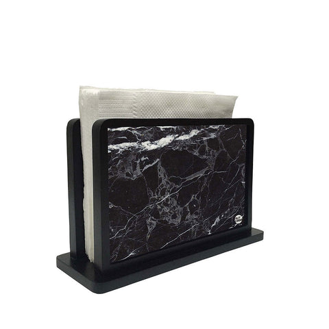 Tissue Holder Paper Napkin Stand - Marble Black
