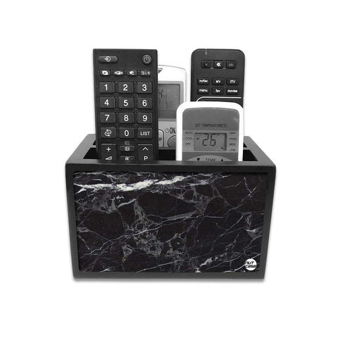 Remote Control Stand Holder Organizer For TV / AC Remotes -  Marble Black