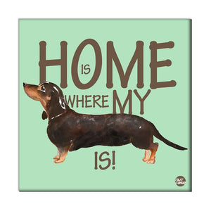 Wall Art Decor For Dog Lovers - Home Is Where My Black Dog is