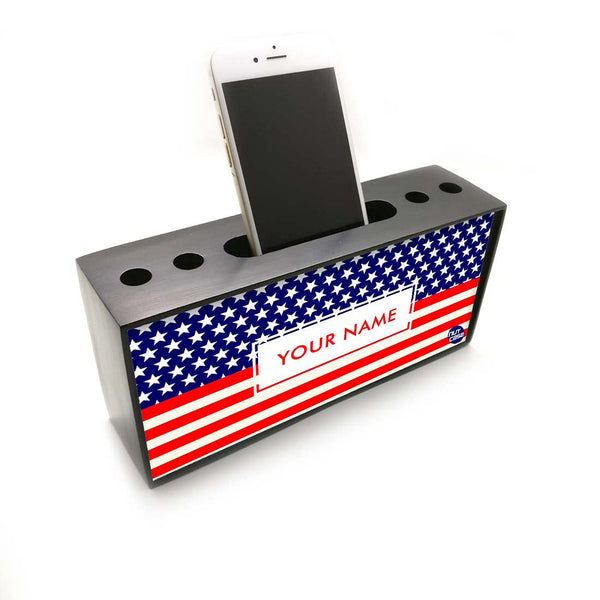 Personalised Smart Phone Stand Holder Pen Pencil Organizer - Union Jack