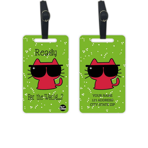 Personalized Luggage Tag Kids Add your Name - Set of 2 - Nutcase