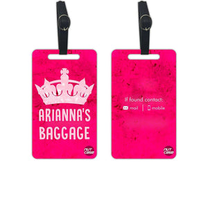 Personalized Luggage Tags for Women - Set of 2 - Nutcase