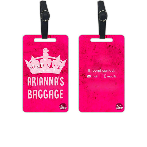 Personalized Luggage Bag Tags for Ladies Women Girls - Set of 2 - Nutcase