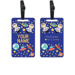 Custom Printed Luggage Tag Add your Name - Set of 2 - Nutcase