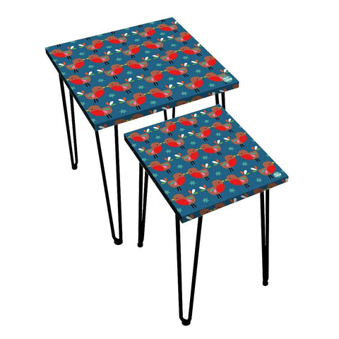 Nesting Tables Set Of 2 ,  Nest Of Tables For Living Room -   Cute Birds