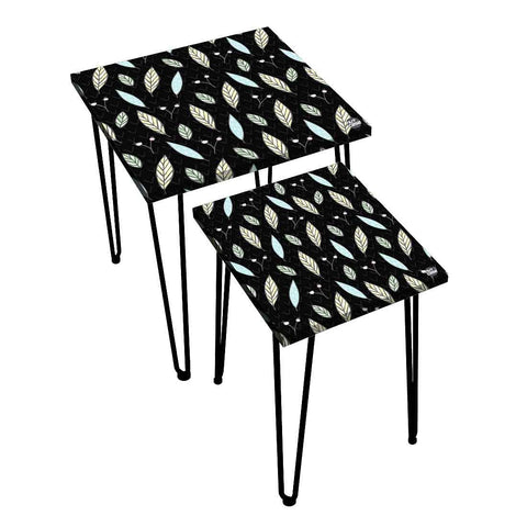 Nesting Tables Set Of 2 ,  Nest Of Tables For Living Room -   Leaf