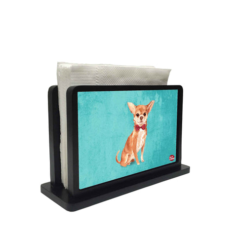Tissue Holder Paper Napkin Stand - Cute Chihuahua