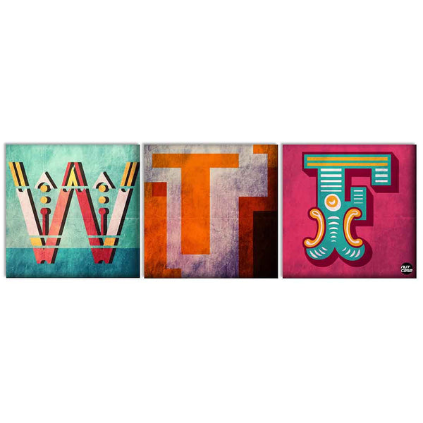 Wall Art Decor Hanging Panels Set Of 3 -WTF