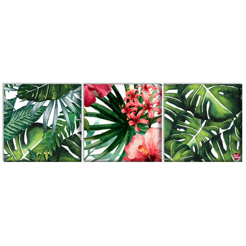 Wall Art Decor Hanging Panels Set Of 3 -Floral