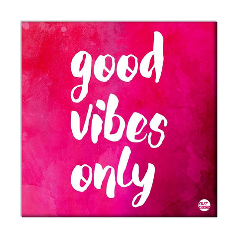 Wall Art Panel For Home Decor - Good Vibes Only Pink