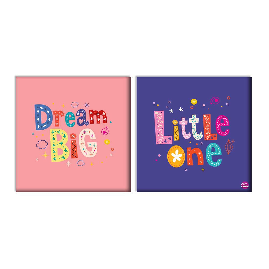 Wall Art Decor Panels Set Of 2 -  Dream Big