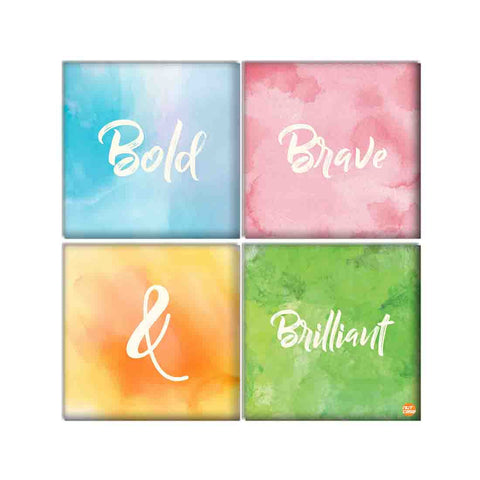 Wall Art Decor For Home Set Of 4 -Watercolors