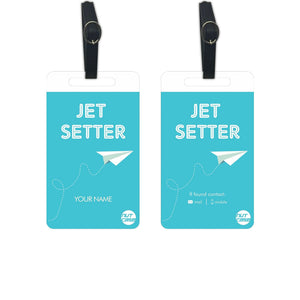 Customized Luggage Tags - Add your Name - Set of 2