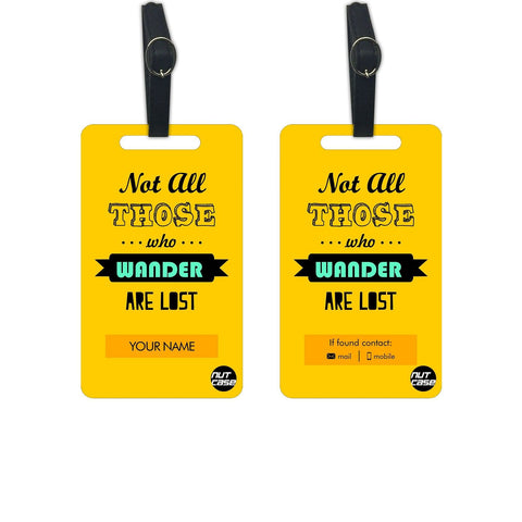 Personalized Suitcase Luggage Tags Add your Name - Set of 2 - Nutcase