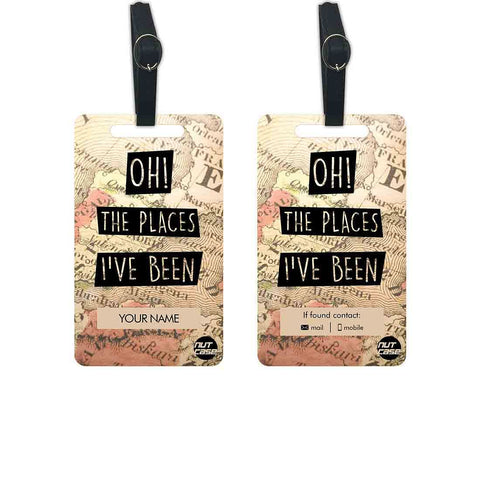 Custom Made Luggage Bag Tags Add your Name - Set of 2