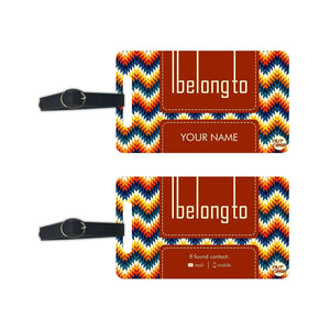 Personalized Printable Luggage Tags - Add your Name - Set of 2