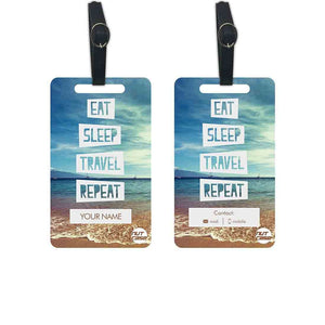 Custom Luggage Tags Add your Name - Set of 2