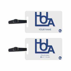Customised Printed Luggage Tag for Bag - Add your Name - Set of 2
