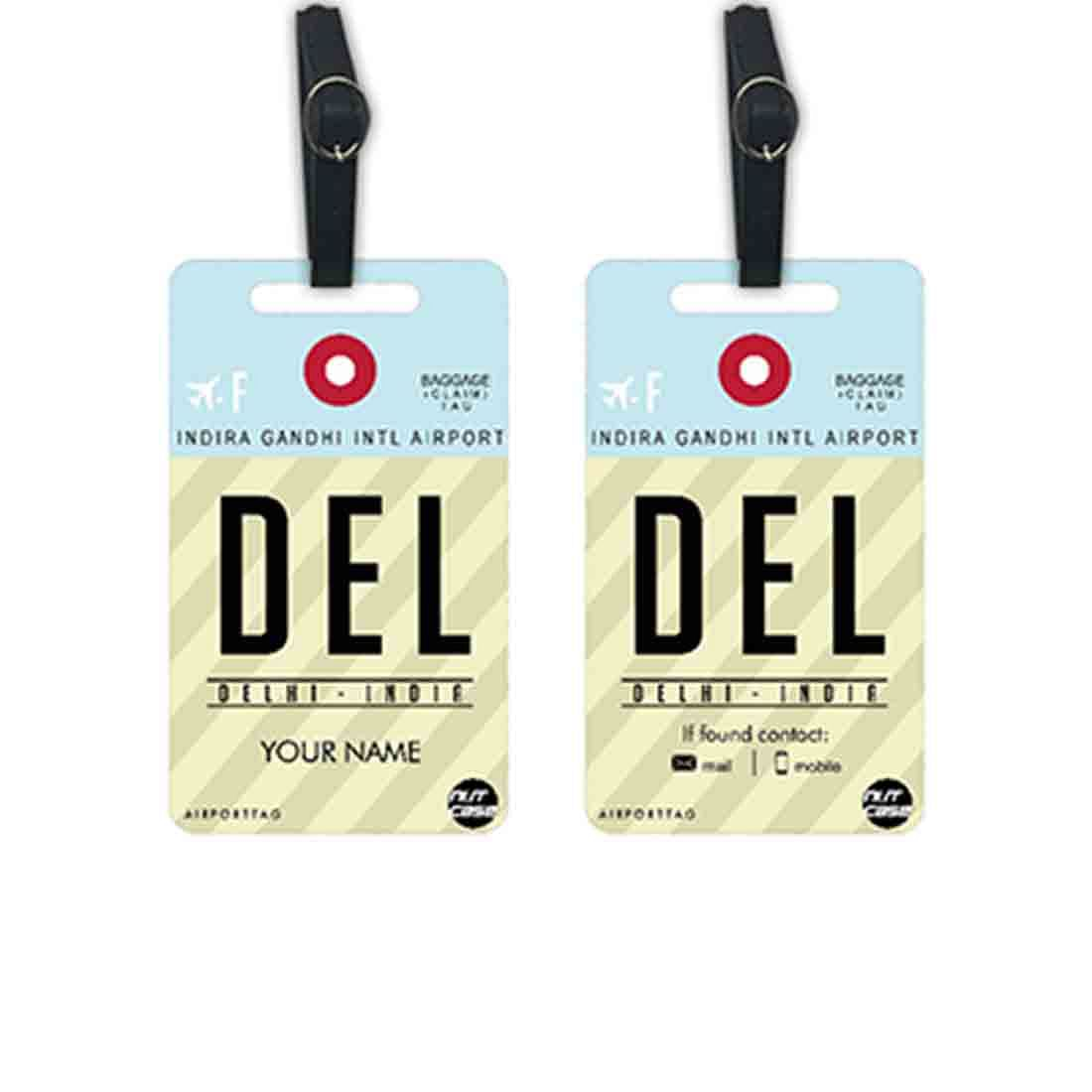 Classy Personalized Luggage Tag - Add your Name - Set of 2