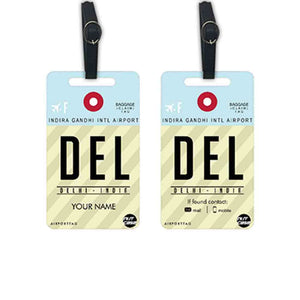 Personalised Luggage Tags - Add your Name - Set of 2