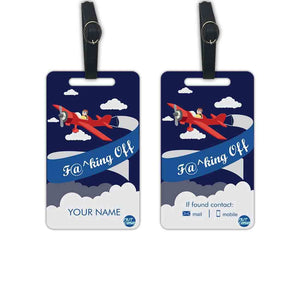 Custom Travel Luggage Tags - Add your Name - Set of 2