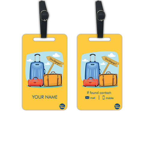 Custom Luggage Tags Kids Add your Name - Set of 2 - Nutcase