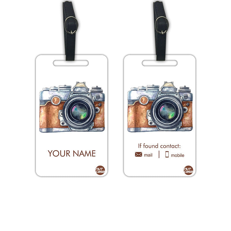 Customized Photo Luggage Baggage Tags Labels for Photographers-Set of 2 - Nutcase