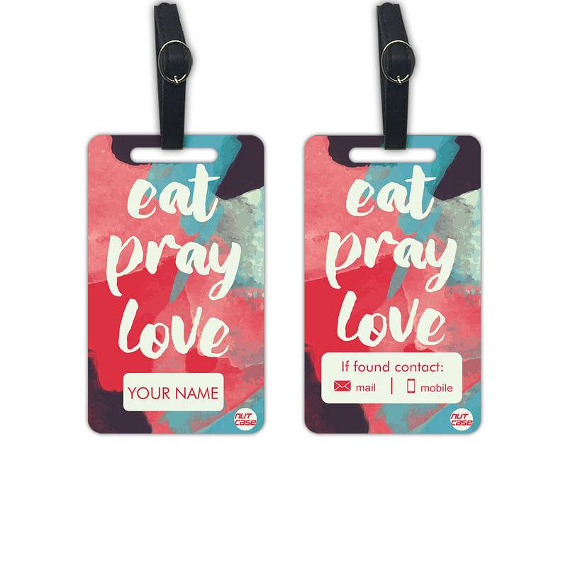 Custom Luggage Travel Tags Add Your Name - Set of 2 - Nutcase