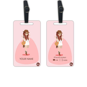 Customized Luggage Tags for Girls Add your Name - Set of 2 - Nutcase