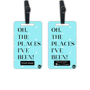 Custom Made Unique Luggage Tag - Add your Name - Set of 2