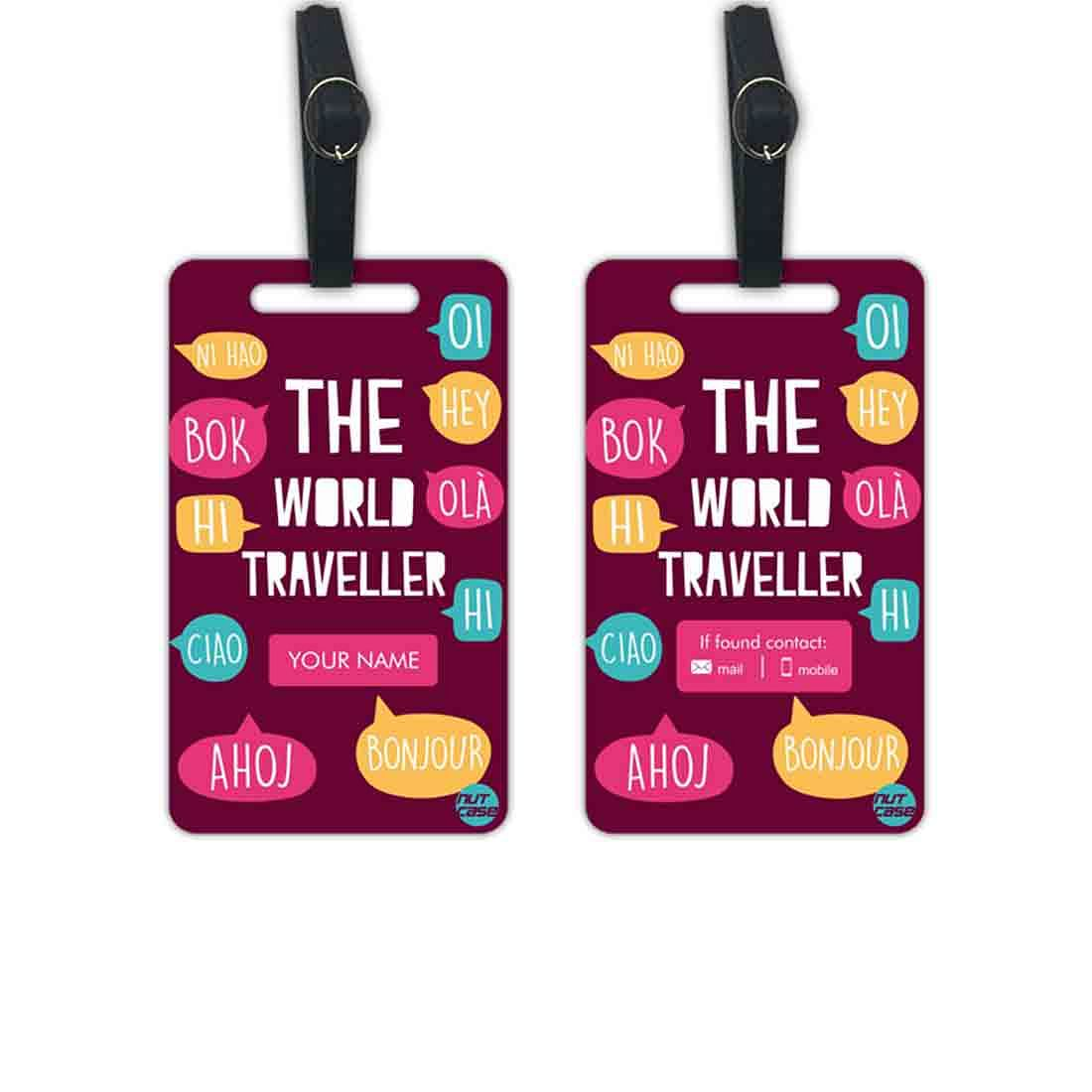 Personalized Suitcase Tags  - Add your Name - Set of 2