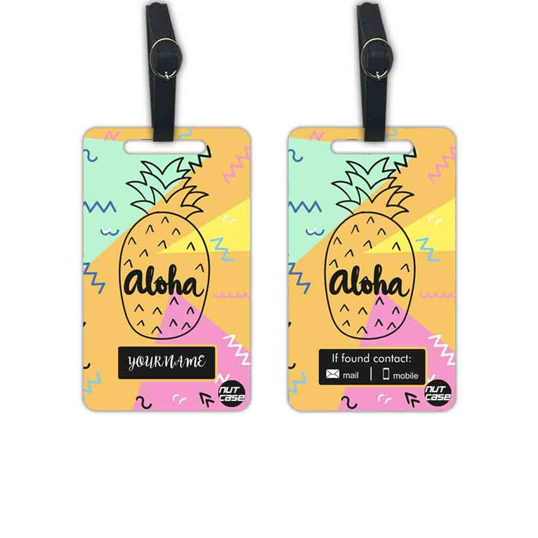 Custom Printed Luggage Tags - Add your Name - Set of 2