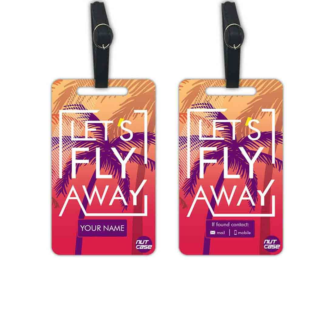 Personalised Name Luggage Tags  - Add your Name - Set of 2