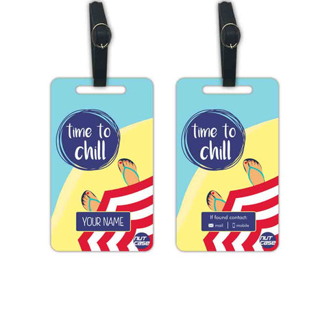 Customized Suitcase Luggage Tags - Add your Name - Set of 2