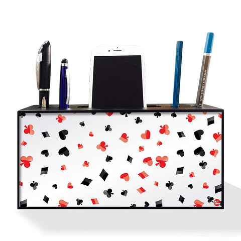 Pen Mobile Stand Holder Desk Organizer - Playing Cards