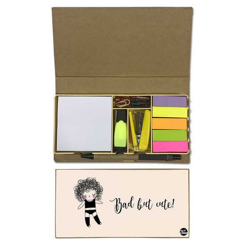 Stationery Kit Desk Organizer Memo Notepad - Bad But Cute