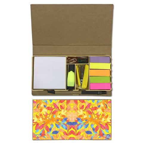 Stationery Kit Desk Organizer Memo Notepad - Sunny Florals