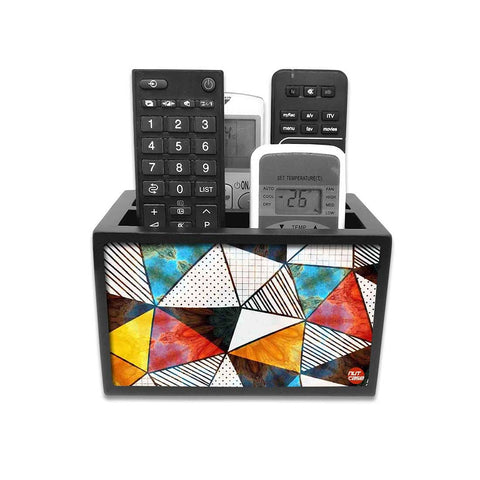 Remote Control Stand Holder Organizer For TV / AC Remotes -  Colorful Triangle