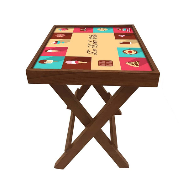 Folding Side Table - Teak Wood - La Dolce Vita