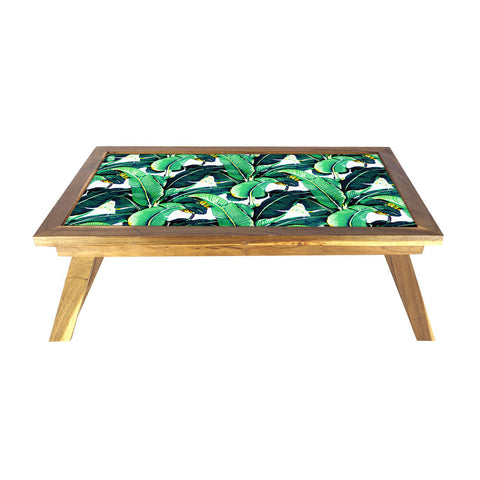 Folding Laptop Table For Bed Breakfast Tables -Green Leaves Banana