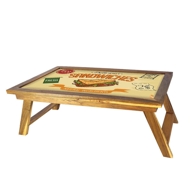 Folding Laptop Table For Bed Breakfast Tables -Sandwiches