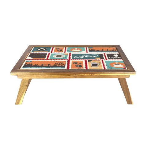 Folding Laptop Table For Bed Breakfast Tables -Retro American Diner