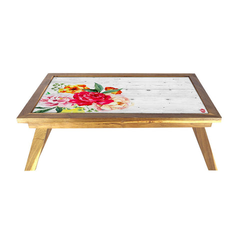 Folding Laptop Table For Bed Breakfast Tables -Floral Vintage