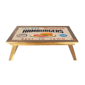 Folding Laptop Table For Bed Breakfast Tables -Hamburgers