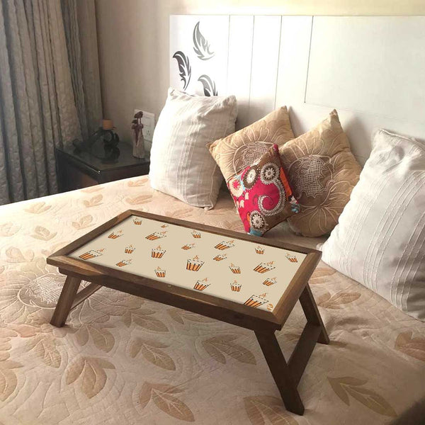 Folding Laptop Table For Bed Breakfast Tables -Ek Cup Chai