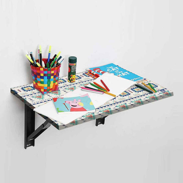 Wall Mounted Folding Study Table Desk - Aztec
