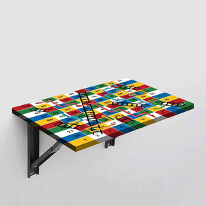 Wall Mounted Folding Study Table Desk - Snakes Ladder