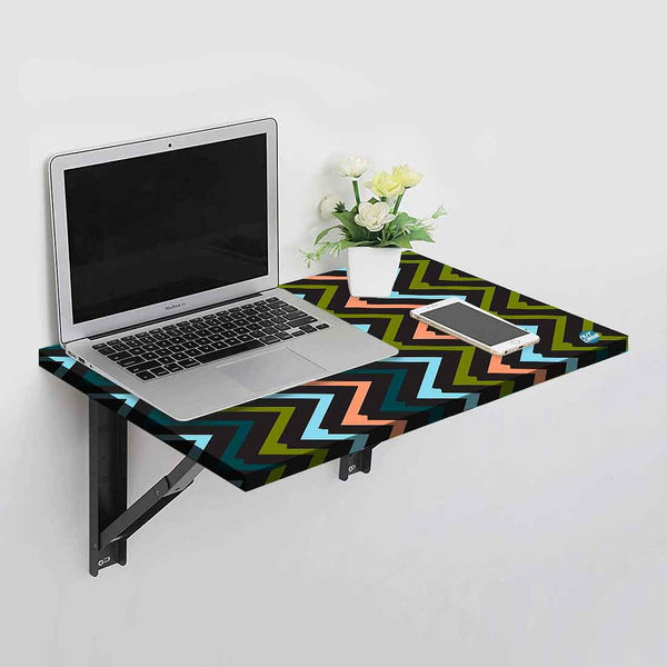 Wall Mounted Folding Study Table -  Zig Zag