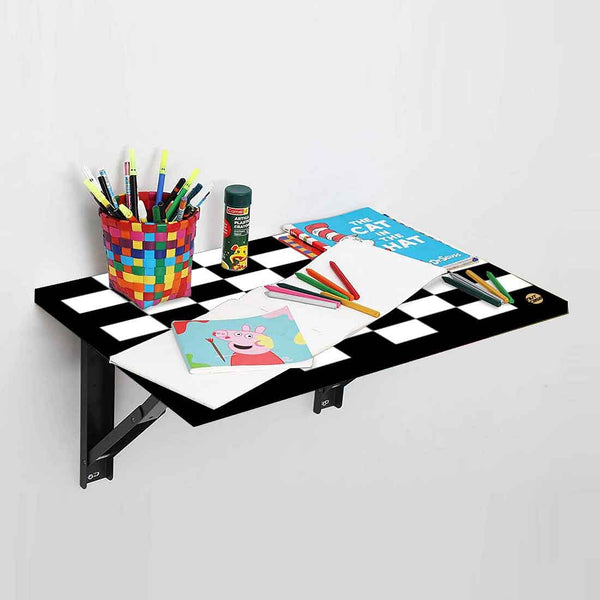 Wall Mounted Folding Study Table -  Checks